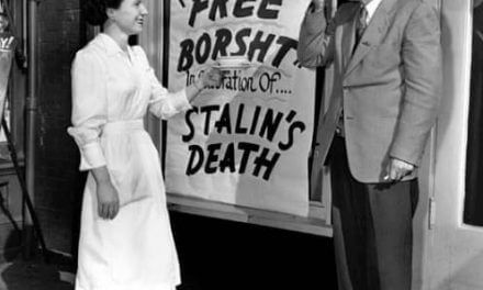 """Free Borshch"" in celebration of the Stalin's death"