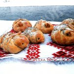 Baked skylark birds shaped buns – ancient Ukrainian traditions