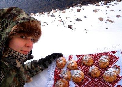 ukrainian food cuisine spring lilkasky lilia tiazhka bird rolls bake